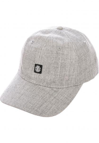 Element Caps Fluky Dad Hat Cap greyheather vorderansicht 0565305