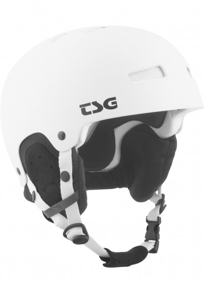 TSG Snowboardhelme Gravity Solid Color satin white Vorderansicht