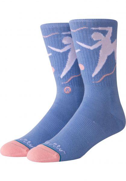 Stance Socken Dance With Me blue Vorderansicht