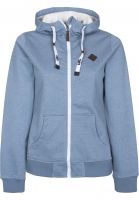 Light Zip-Hoodies Path denimblue-whitefur Vorderansicht