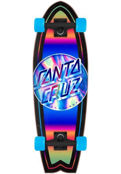 Santa-Cruz Longboards komplett Iridescent Dot Shark Cruiser black-blue-multi vorderansicht 0265566