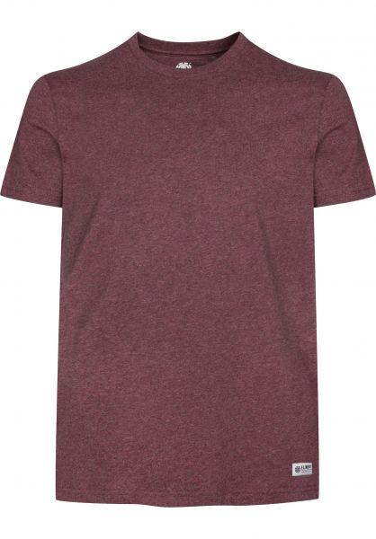 Element T-Shirts Basic Crew oxbloodheather Vorderansicht