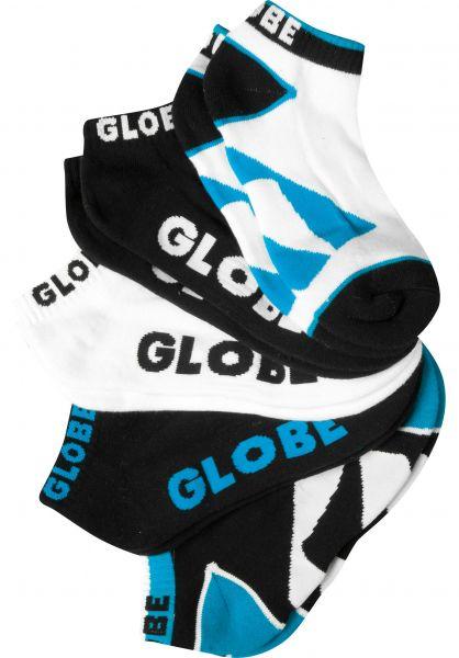 Globe Socken Destroyer Ankle 5 Pack black Vorderansicht