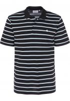 Carhartt WIP Polo-Shirts Murray murraystripe-black-aquamarine Vorderansicht