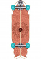 YOW-Cruiser-komplett-Huntington-Beach-Surfskate-orange-Vorderansicht