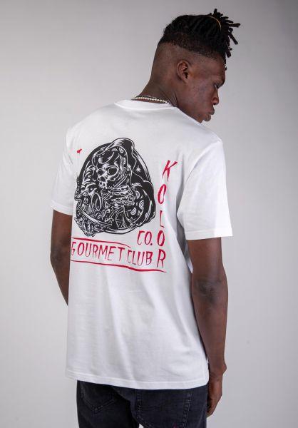 Turbokolor T-Shirts Gourmet white vorderansicht 0320188