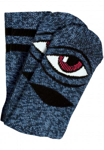 Toy-Machine Socken Sect-Eye-III heatherblue Vorderansicht