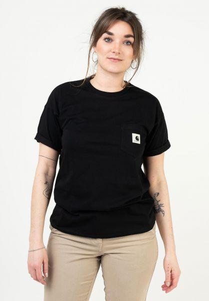 Carhartt WIP T-Shirts W´ Pocket black vorderansicht 0322828