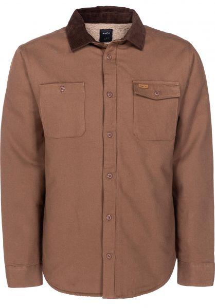 RVCA Hemden langarm Victory wood vorderansicht 0411802