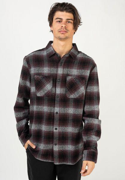 Volcom Hemden langarm Quintin Flannel black vorderansicht 0412081