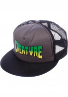 Creature Caps Logo Trucker black-grey Vorderansicht