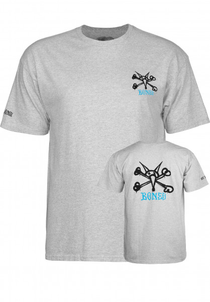Powell-Peralta T-Shirts Rat Bones greymottled Vorderansicht