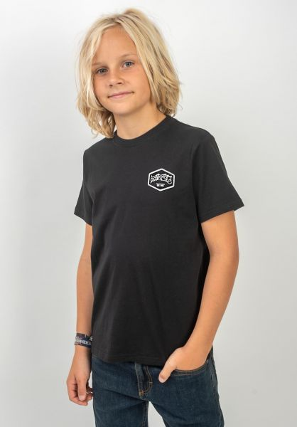 TITUS T-Shirts Hexagon Kids black vorderansicht 0392513