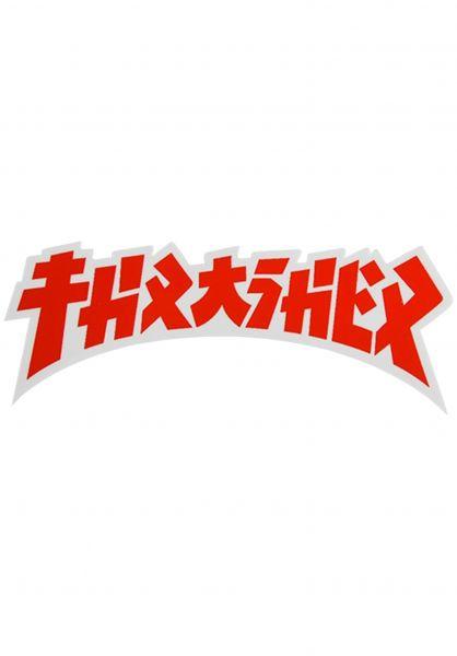 Thrasher Verschiedenes Godzilla Die Cut Sticker white-red vorderansicht 0972526