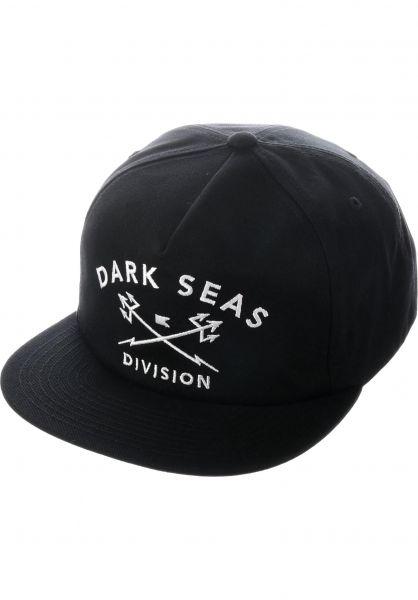 Dark Seas Caps Tridents Snapback Unstructured black Vorderansicht