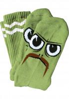 Toy-Machine-Socken-Turtleboy-Stache-green-Vorderansicht
