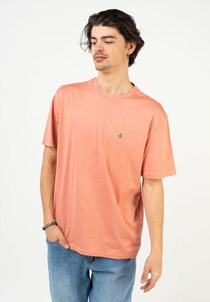 Volcom T-Shirts Stone Blanks clayorange vorderansicht 0321558