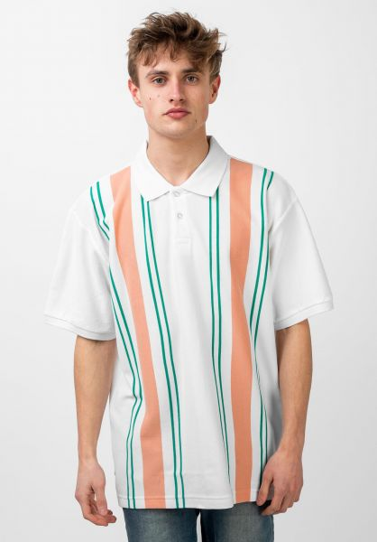 OBEY Polo-Shirts Maps white-multi vorderansicht 0138427