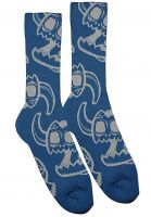 Toy-Machine Socken Monster Skull blue Vorderansicht
