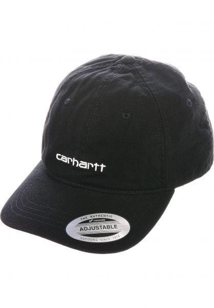 Carhartt WIP Caps Canvas Coach Cap black-white vorderansicht 0566746