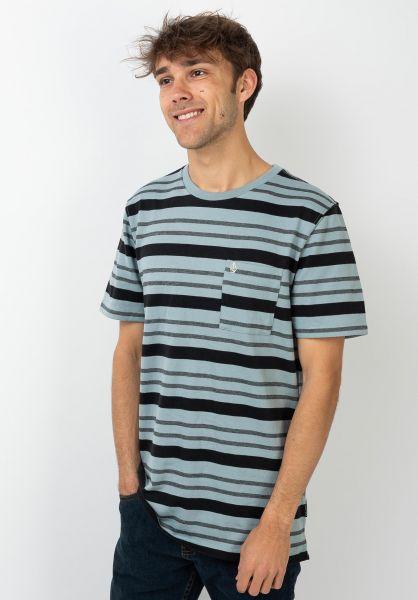 Volcom T-Shirts Rhodes Crew coolblue vorderansicht 0321552