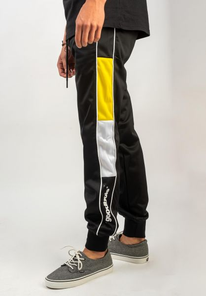 Goodbois Jogginghosen Official Racing Pants black-yellow-white vorderansicht 0680239