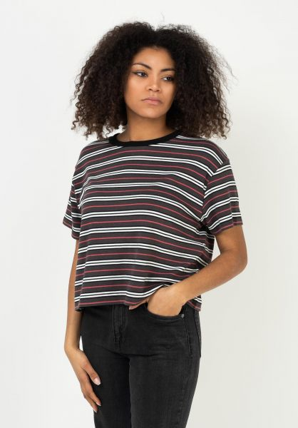 TITUS T-Shirts Mariell brown-striped vorderansicht 0322077