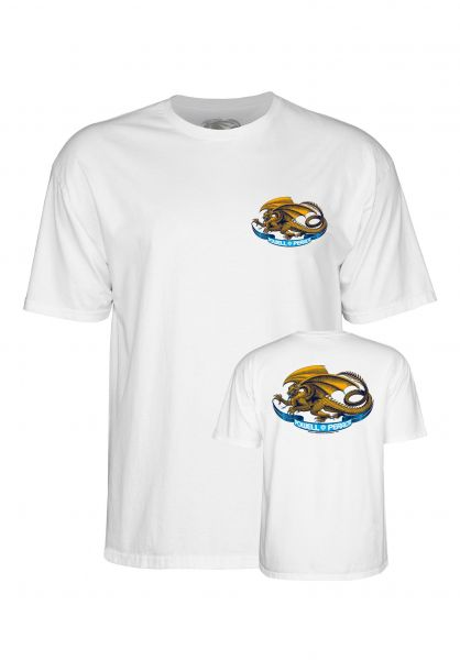 Powell-Peralta T-Shirts Oval Dragon Kids white Vorderansicht