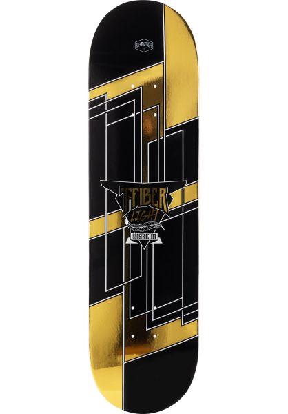 TITUS Skateboard Decks Metallic Blast T-Fiber Light black-gold vorderansicht 0261808
