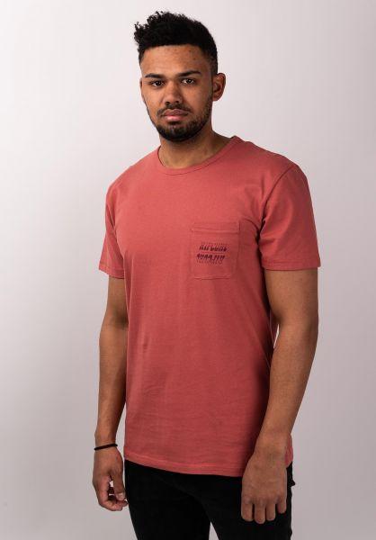 Rip Curl T-Shirts Organic Plain Pocket brick vorderansicht 0399971
