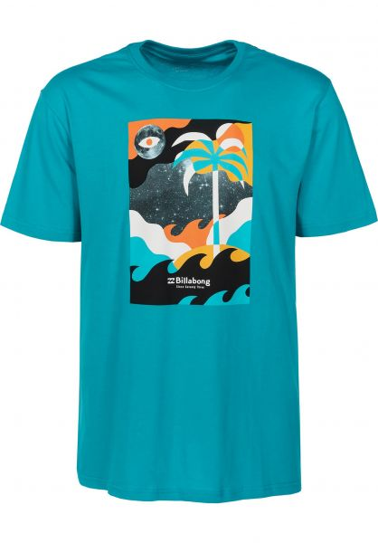 Billabong T-Shirts Spacecase teal Vorderansicht