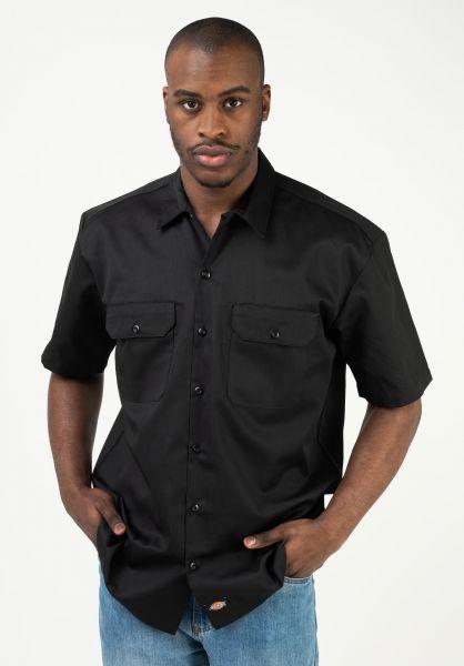 Dickies Hemden kurzarm Short Sleeve Workshirt black vorderansicht 0401032