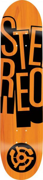 Stereo Skateboard Decks Stacked Price Point orange Vorderansicht