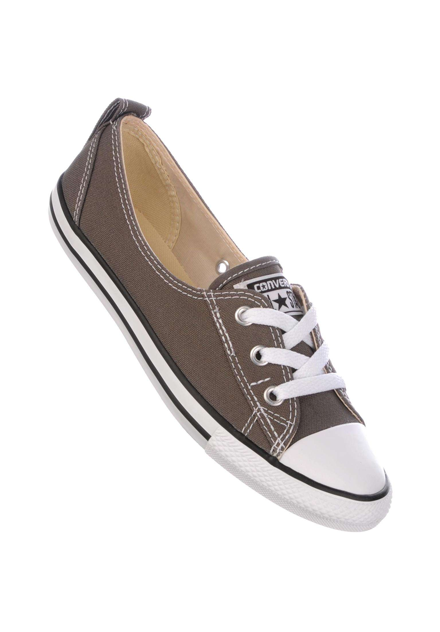 Ballet Lace Converse All Shoes in charcoal for Women  5a73d1934
