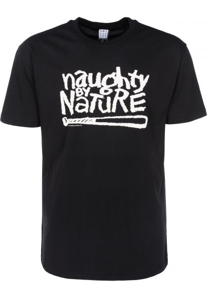 Amplified T-Shirts Naughty By Nature Logo black Vorderansicht