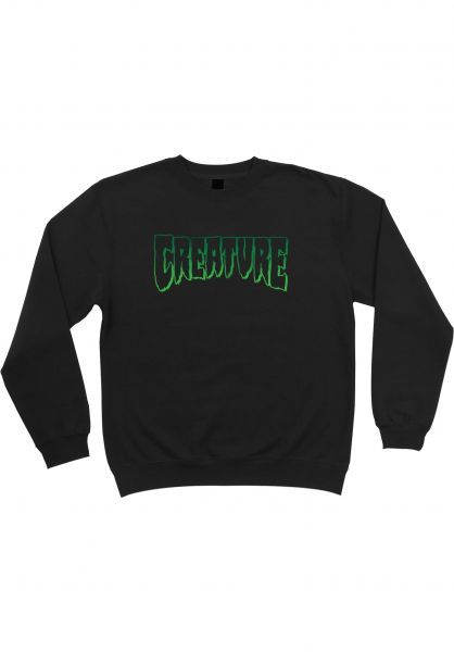 Creature Sweatshirts und Pullover Logo Outline black vorderansicht 0423262