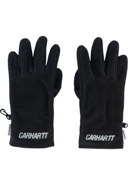 Carhartt WIP Handschuhe Beaufort Gloves black-reflective vorderansicht 0217004