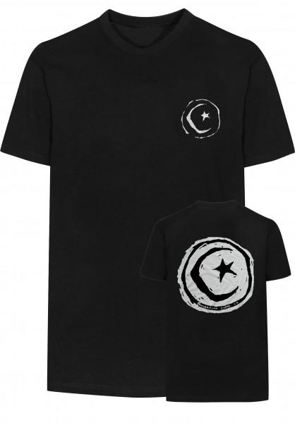 Foundation T-Shirts Superstar-&-Moon black Vorderansicht