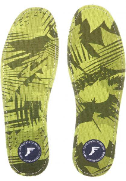 Footprint Insoles Einlegesohlen Kingfoam Camo Low yellow-camo vorderansicht 0249074