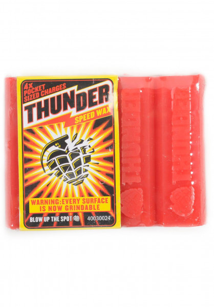 Thunder Skate-Wachs Wax orange Vorderansicht