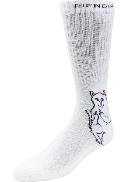 Rip N Dip Socken Lord Nermal white vorderansicht 0631896