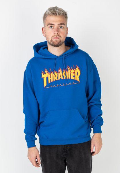 Thrasher Hoodies Flame royal vorderansicht 0044255