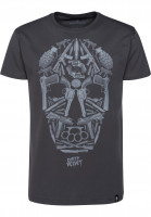 Dirty Velvet T-Shirts Death Mask charcoal Vorderansicht