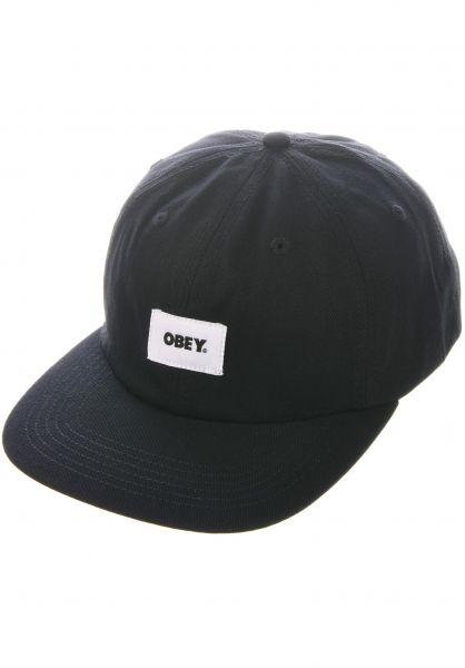 OBEY Caps Bold Label Organic black vorderansicht 0567002