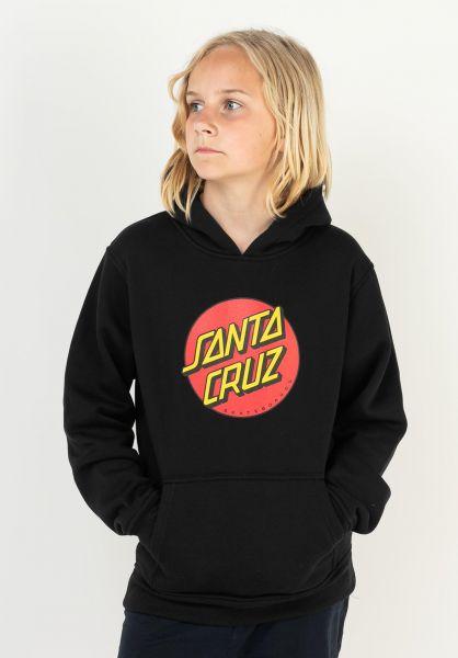 Santa-Cruz Hoodies Youth Classic Dot black vorderansicht 0446251