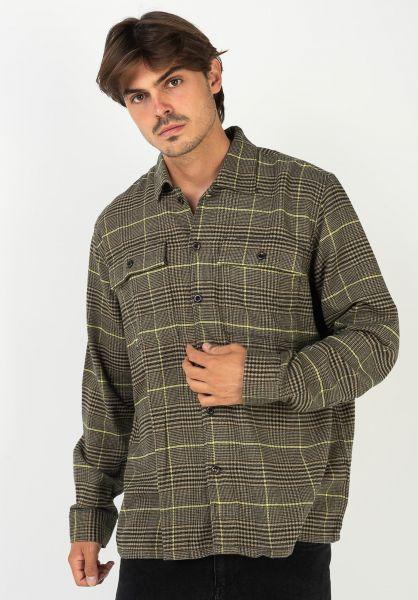 Levis Skate Hemden langarm Skate Work Shirt harvestgold vorderansicht 0411931