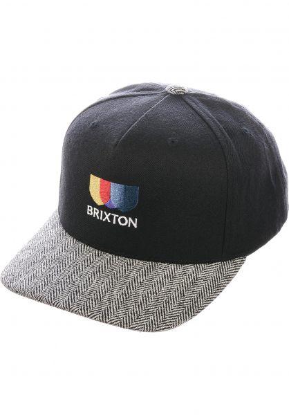 Brixton Caps Alton EMB C black-whiteherringbone vorderansicht 0566916