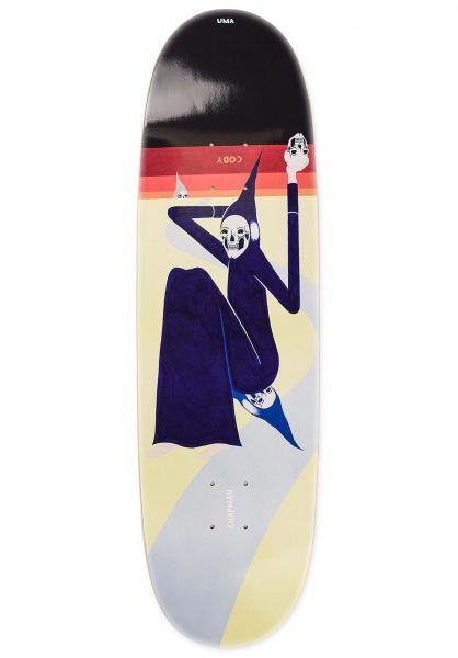 UMA Landsleds Skateboard Decks Coleman Cody Toenail Shape banana vorderansicht 0267191