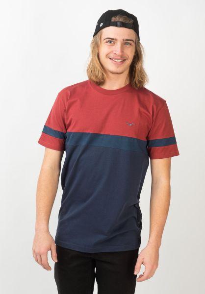 Cleptomanicx T-Shirts Dekker rosewood vorderansicht 0320565