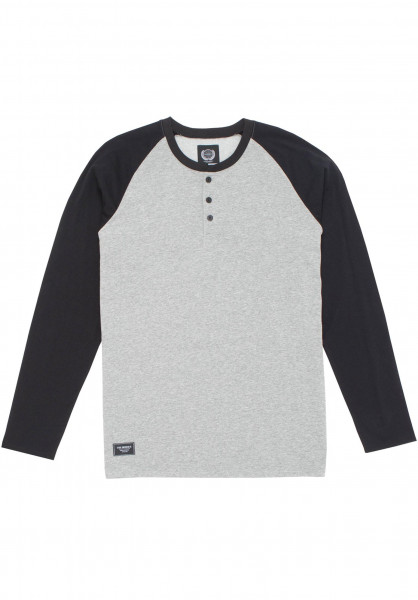 The-Berrics Longsleeves Reyes greymottled-black Vorderansicht